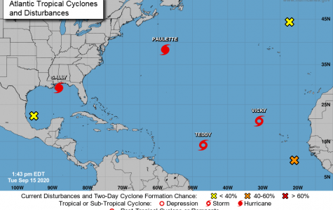 Loyola plans to open campus up to normal operations after Hurricane Sally shifted East. The latest predictions said it is no longer impacting the New Orleans area, according to a university email. Photo credit: National Hurricane Center