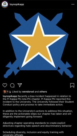 Screenshot from the Loyola chapter of Pi Kappa Phi