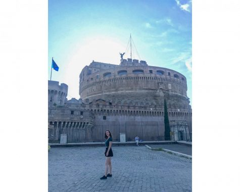 Sophomore Saskia Walker from Rome, Italy stands in her hometown. Walker is one of many international students at Loyola in a tough spot due to COVID-19. Courtesy of Saskia Walker