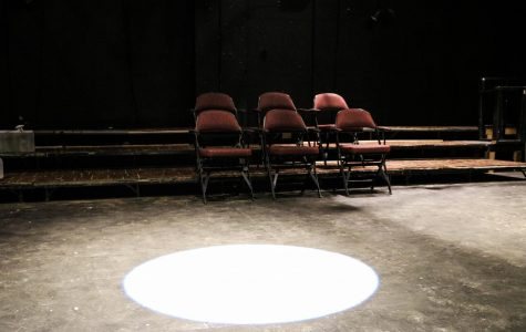 The Lower Depths Theatre sits empty Sept. 22. The theater is not being used because of COVID-19 restrictions and the theater program is working to develop new ways to practice and perform. Photo credit: Hannah Renton