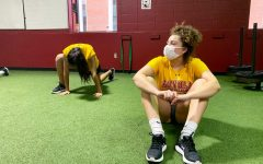 Wolf Pack volleyball players stretch at an early morning practice Oct. 16. Several members of the Loyola athletic department have been appointed to committees designed to champion racial justice in college athletics.  Brendan Heffernan/The Maroon Photo credit: Brendan Heffernan