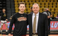 Navigation to Story: Father-son basketball duo faced off in Loyola v. Southern Miss. game