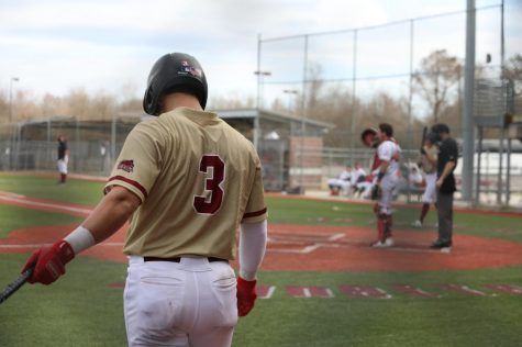 Wolf Pack infielder Payton Alexander warms up during a game against the University of Huston-Victoria. Alexander had three hits and scored three runs during Loyolas four-game series with Freed-Hardeman University. Photo credit: Hannah Renton