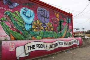 A mural is displayed in Central City in New Orleans. Central City is a low-income part of the city affected by the JustSouth Index of 2019. Gabriella Killett/The Maroon Photo credit: Gabriella Killett