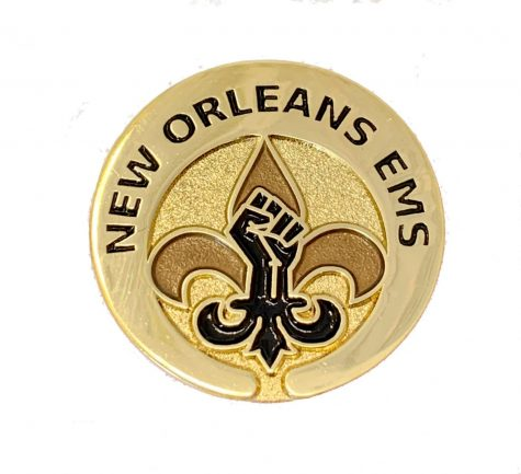 New Orleans EMS introduces a Black Lives Matter Pin. The pin is meant to show support for members of the Black community. Photo credit: Courtesy of Lt. Jonathan C. Foucade