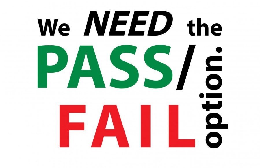 A graphic that says we need the pass/fail option