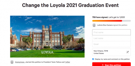 Students petition 2021 commencement plans