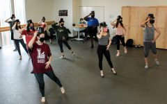 Hardy Weaver leads musical theatre students in a