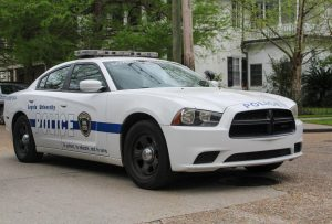 An LUPD police car drives down Calhoun St, Wednesday, Mar. 17, 2021. The New Orleans Police Department arrested 18-year-old Jonas Amaya on campus Oct. 7 on charges of simple battery and MDMA. File Photo.
