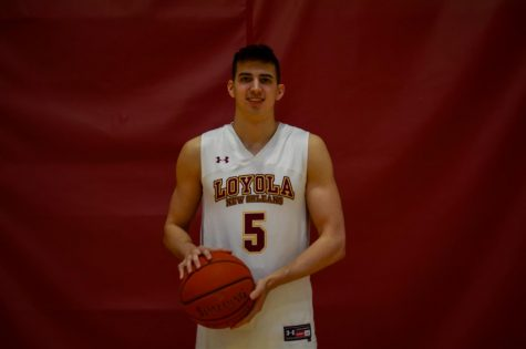 Zach Muller, Business major and sophomore at Loyola, plays point guard for Loyola