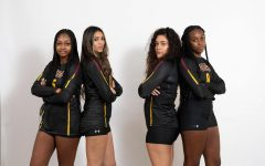 Jordan Bernard, Gabriela Martinez, Milabella Vasquez, and Kailyn O'neal pose for a team photo.