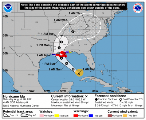 Tuesday classes canceled as Hurricane Ida approaches coast