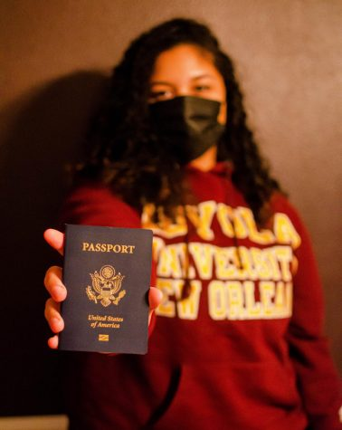 (WEB VERSION) Asia Julia Hentkowski packs for her upcoming trip to England. Asia is just one of the many Loyola students that will be studying abroad this semester.