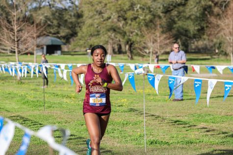 Biochemistry junior Amber Byrd competes at the Wolf Pack Invitational hosted at City Park this Spring.