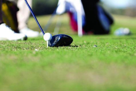 A golfer tees up. The Loyola golf teams had their season opener this week at the Invite at Innisbrook. File Photo.