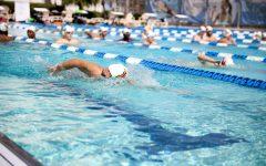 Loyolas swim teams practice at the Ochsner Fitness Center on Oct. 10, 2021.